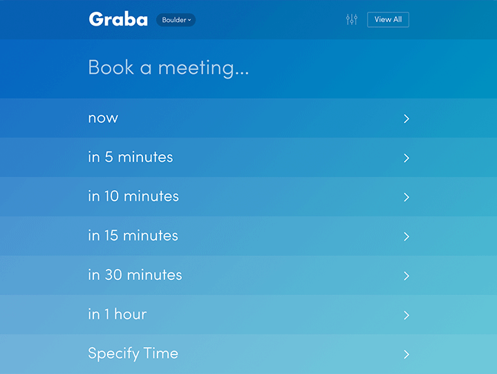 Meeting time selection screen